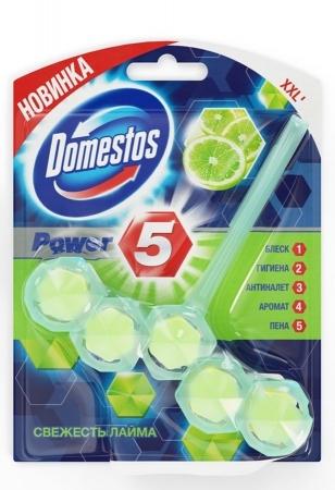Блок для очищения унитаза  Domestos  Power 5 Свежесть Лайма 55гр.