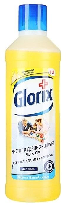 Средство для мытья полов  Glorix   лимонная энергия 1л.