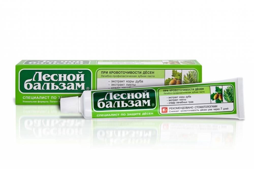 Зубная паста  Лесной бальзам  с экстрактами коры дуба и пихты на отваре трав 75мл.