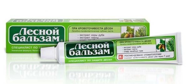 Зубная паста  Лесной бальзам  Кора дуба плюс пихта на отваре трав 50мл.