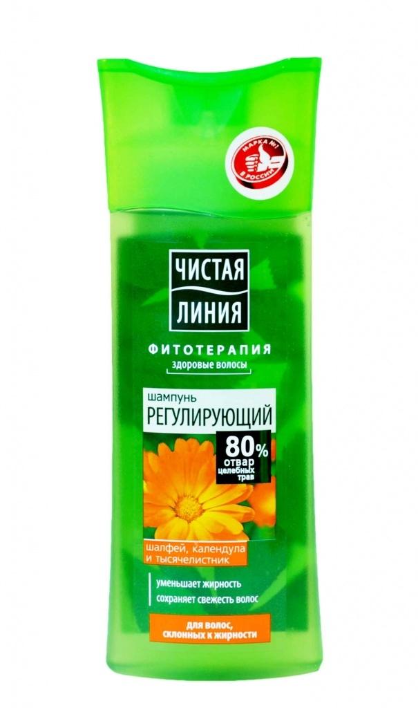 Шампунь для волос  Чистая Линия  склонных к жирности Календула 250мл.