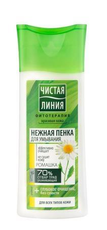Пенка для умывания  Чистая Линия  для любой кожи на отваре целебных трав 100мл.