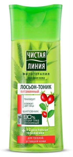 Лосьон-тоник для лица  Чистая Линия  Витаминный 100мл.