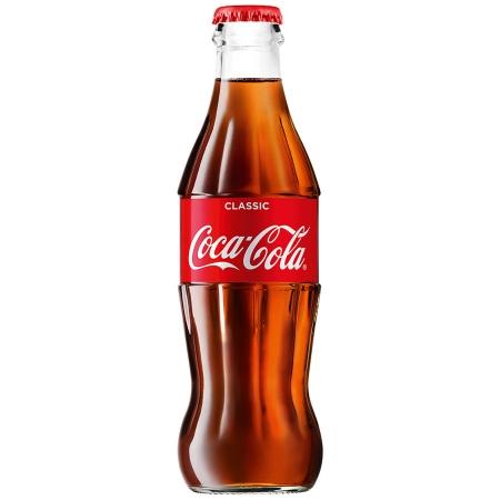 Газированная вода  Кока-кола  0.33л стекло