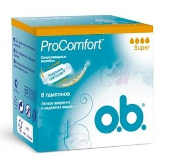Тампоны  O.B.  ProComfort Super 8 шт.