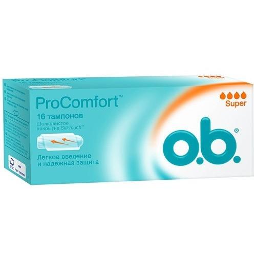 Тампоны  O.B.  Procomfort super 16шт.