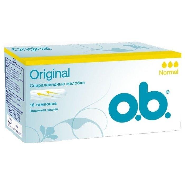 Тампоны  O.B.  Original Normal 16шт.