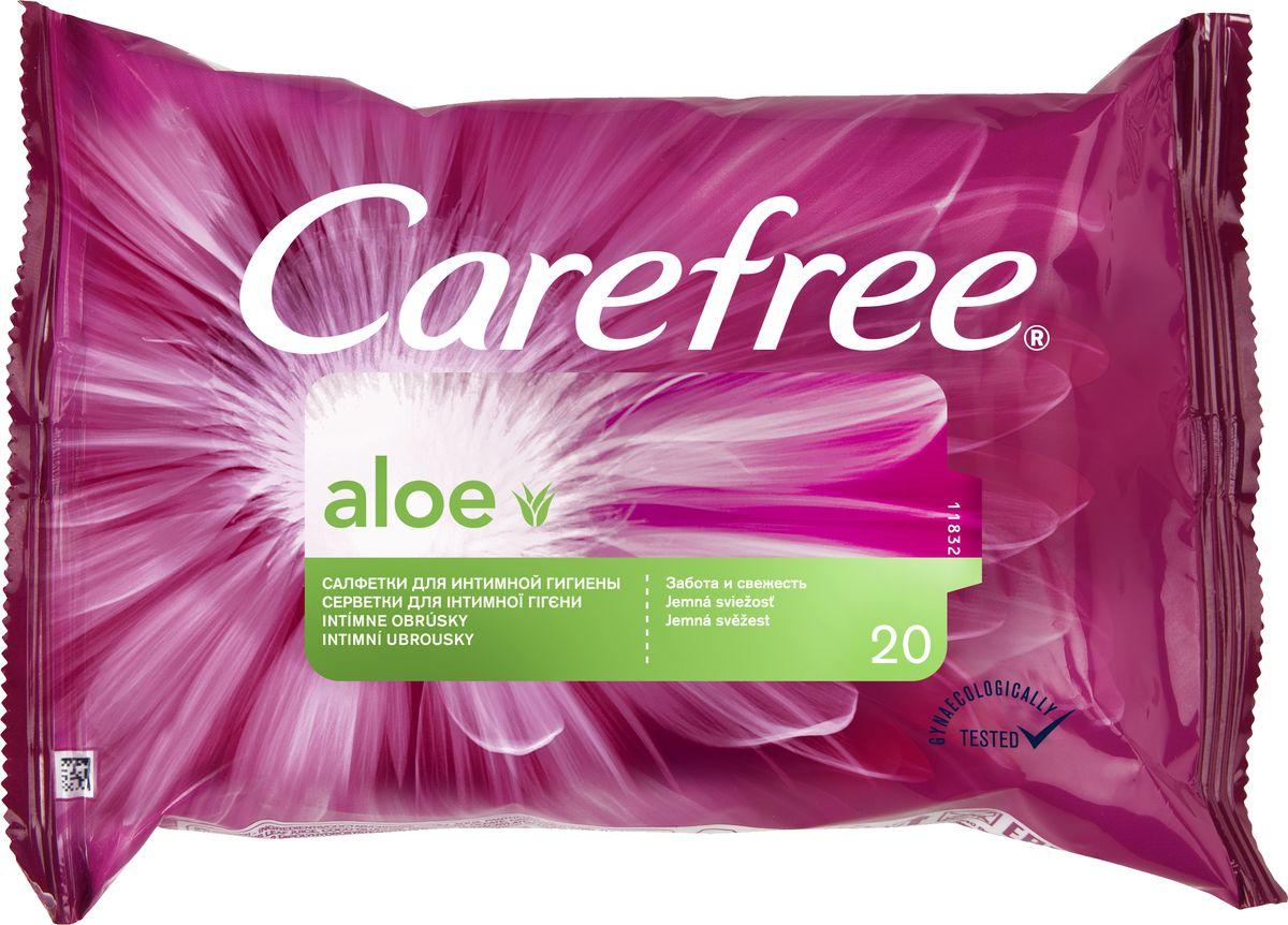 Carefree Салфетки Aloe 20 шт