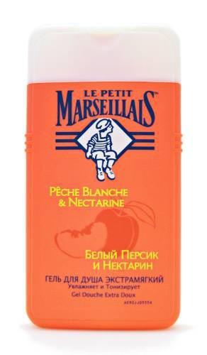 Гель для душа  Le Petit Marseillais  белый персик и нектарин 250мл.