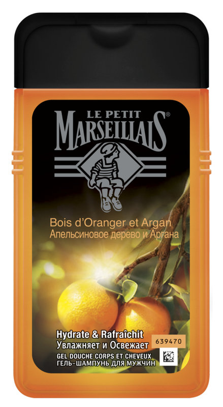 Гель-шампунь  Le Petit Marseillais  Апельсиновое дерево и аргана 250мл.