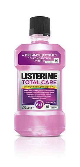 Ополасиватель для полости рта  Listerine Total Care  250мл.