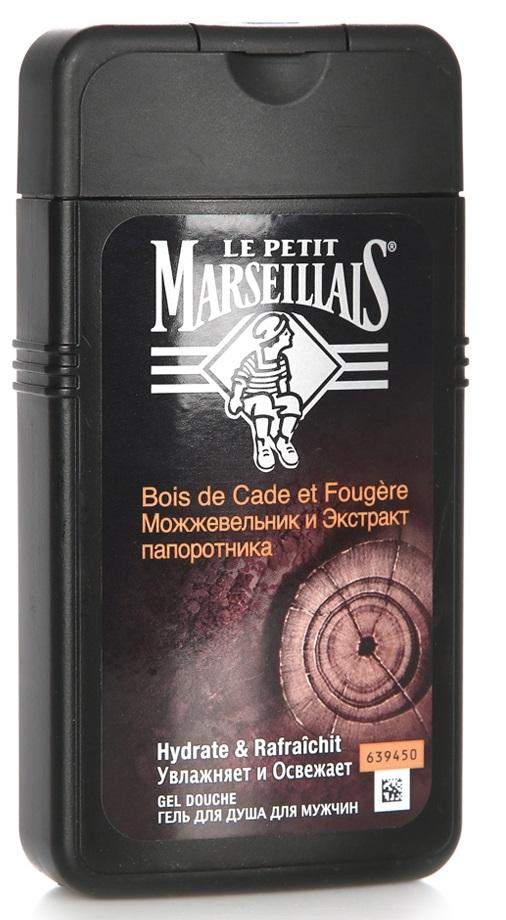 Гель для душа для мужчин  Le Petit Marseillais  можжевельник и экстракт папоротника 250мл.