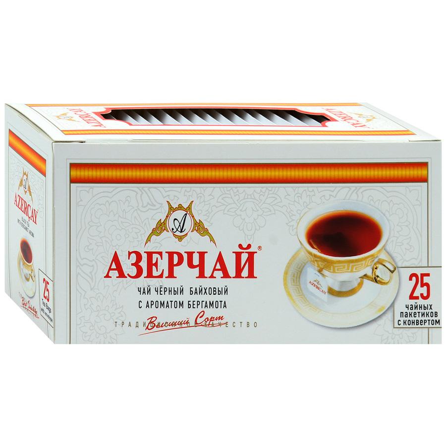 Чай черный пакетированный  Азерчай  25*2гр с бергамотом