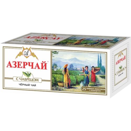 Чай черный  Азерчай  25*2гр. с чабрецом