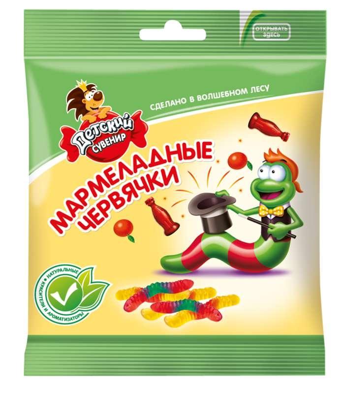 Мармелад  Детский сувенир  червячки 70 гр.