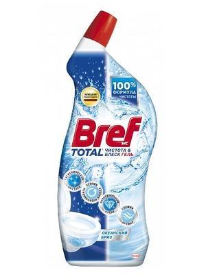 Чистящее средство для туалета  Бреф  чистота и блеск океан 700мл.