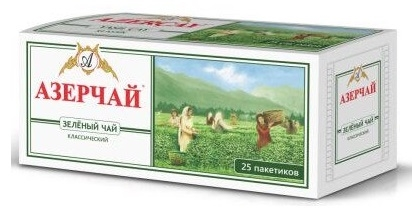 Чай зеленый  Азерчай  зеленый 20*2гр.