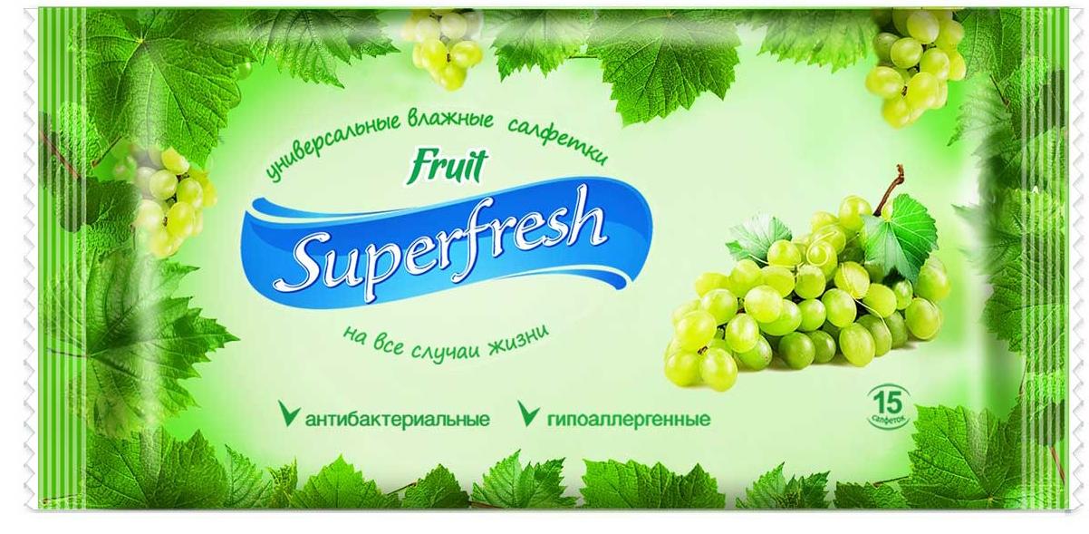 Салфетки влажные  SuperFresh  Fruit 15 шт.