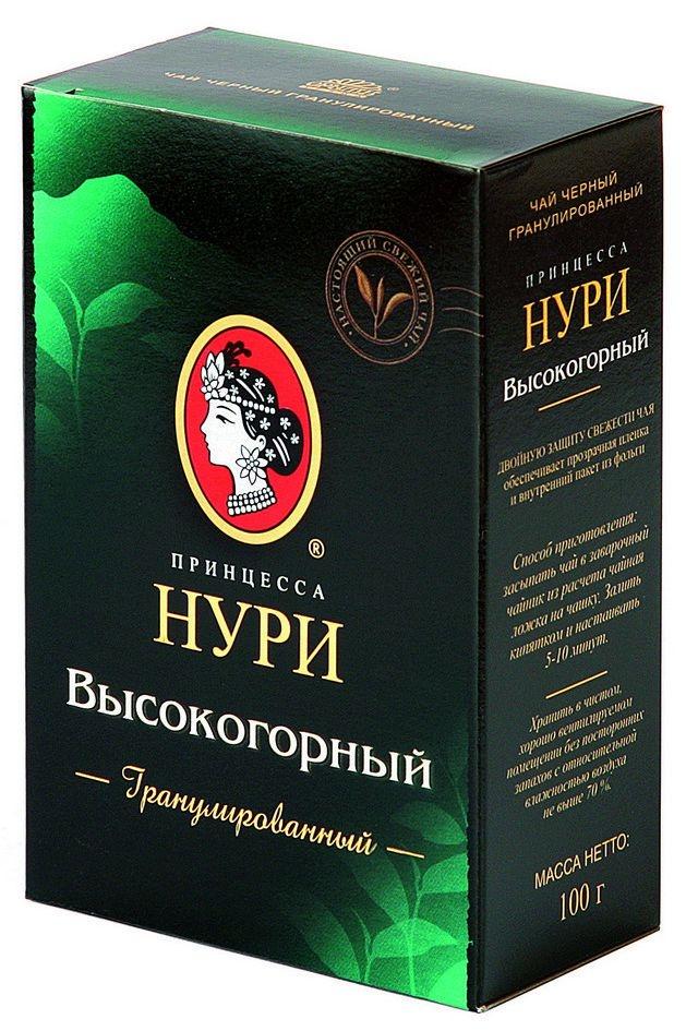 Чай черный  Принцесса Нури  высокогорный гранулированный 100гр.