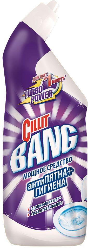 Средство чистящее  Cillit Bang  дезинфицирующее для туалета Антипятна+Гигиена Сила отбеливания 750мл.