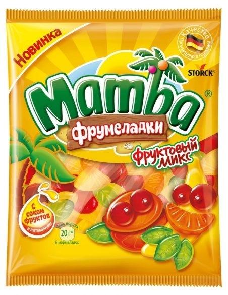 Жевательный мармелад  Mamba  фруктовый микс 72гр.