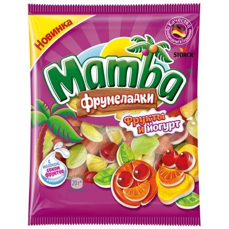 Жевательный мармелад  Mamba  фрукты и йогурт 72гр.