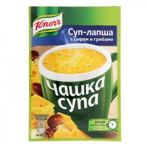 Чашка супа  Кнорр   суп-лапша с сыром и грибами 15.5гр.