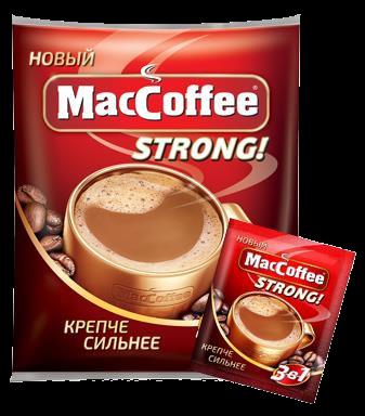 Напиток кофейный растворимый  MacCoffe  Strong 16гр*100шт.