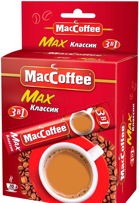 Напиток кофейный растворимый  MacCoffe  Max классик 16гр*20шт.