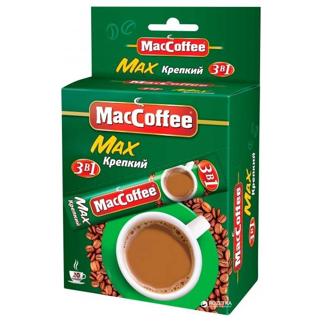 Напиток кофейный растворимый  MacCoffe  Max крепкий 16гр*20шт.