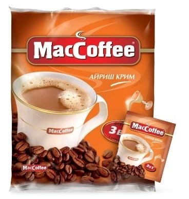 Напиток кофейный  MacCoffee  айриш крим 18гр*25шт.