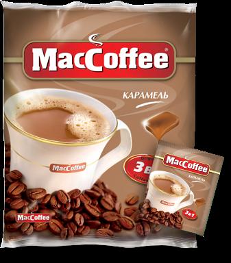 Напиток кофейный растворимый  MacCoffee  Карамель 18гр*25шт.