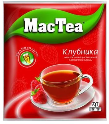 Напиток чайный растворимый  MacTea  клубника 20*16гр.