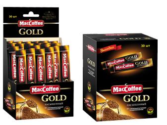 Кофе сублимированный растворимый  MacCoffee Gold  30шт*2гр.