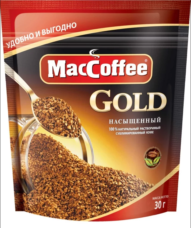Кофе сублимированный растворимый  MacCoffee Gold  30гр.
