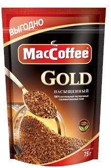Кофе сублимированный растворимый  MacCoffee Gold  75гр.