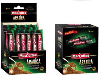 Кофе сублимированный растворимый  MacCoffee Arabica  30шт*2гр.