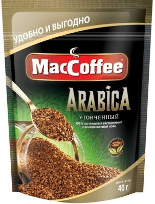 Кофе сублимированный растворимый  MacCoffee Arabica  40гр.
