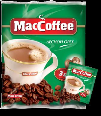 Напиток кофейный растворимый  MacCoffe  лесной орех 18гр*25шт.