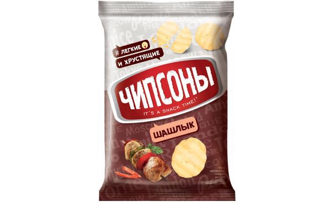 ЧИПСЫ ЧИПСОНЫ КАРТ.40 Г/28 ШАШЛЫК