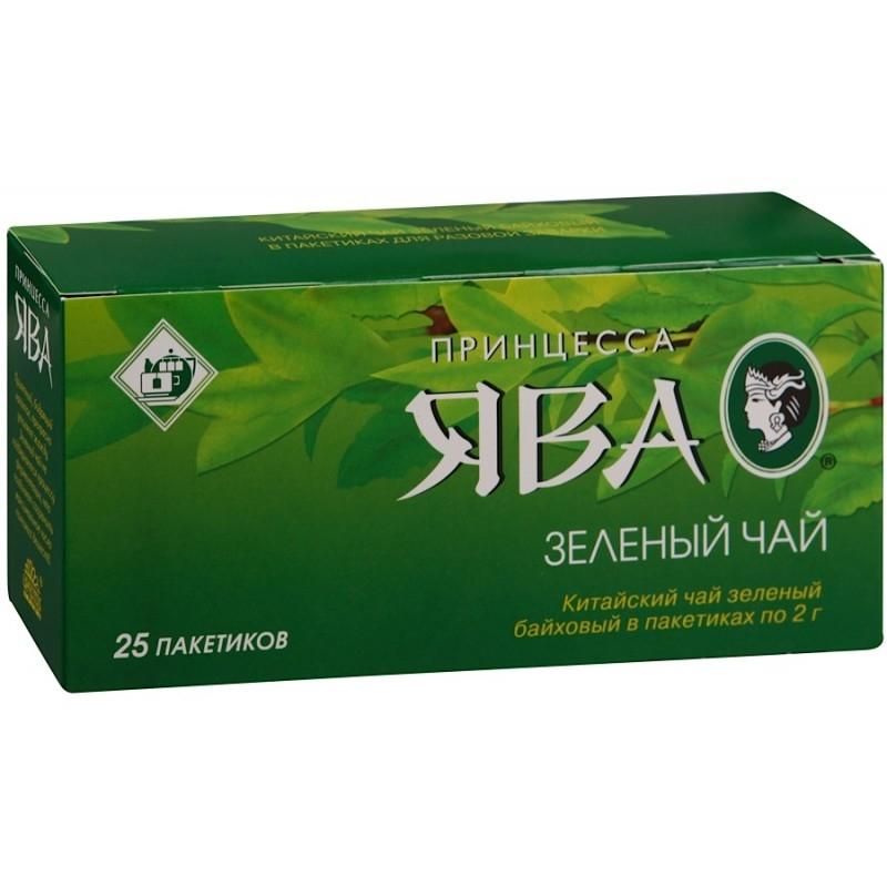 Чай  Принцесса Ява  зеленый 25шт*1.8гр.