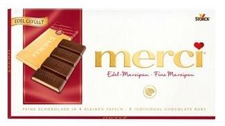 Шоколад  Мерси  с марципаном 112гр.