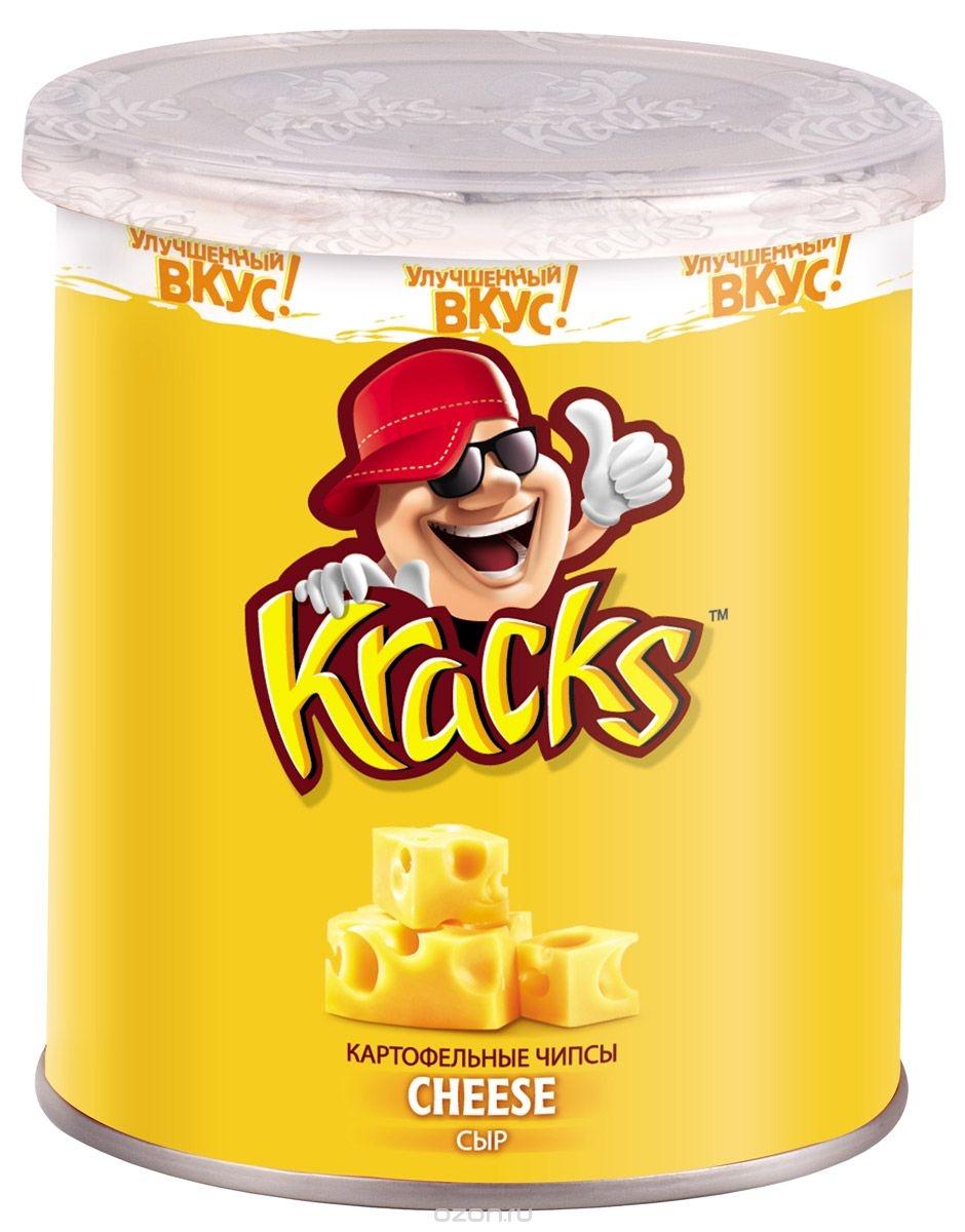 Чипсы картофельные  Kracks  со вкусом сыра 45гр.