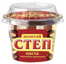 Паста  Золотой степ  шоколадно-ореховая 220мл.