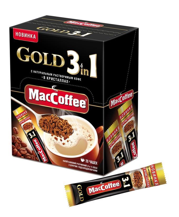Напиток кофейный  MacCoffee Gold  3в1 растворимый 16гр*10шт.