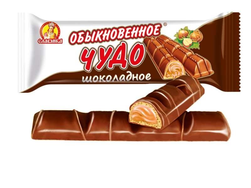 Конфеты (батон)  Обыкновенное чудо  шоколадное 55гр.
