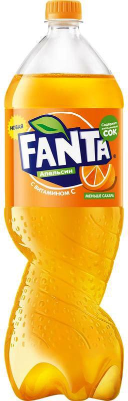 Газированный напиток  Фанта  апельсин 0.9л.