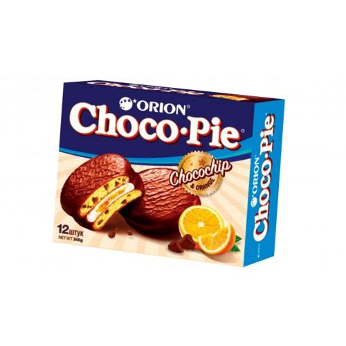 Пирожное  Чоко-пай  с кусочками апельсина и шоколада 360гр.
