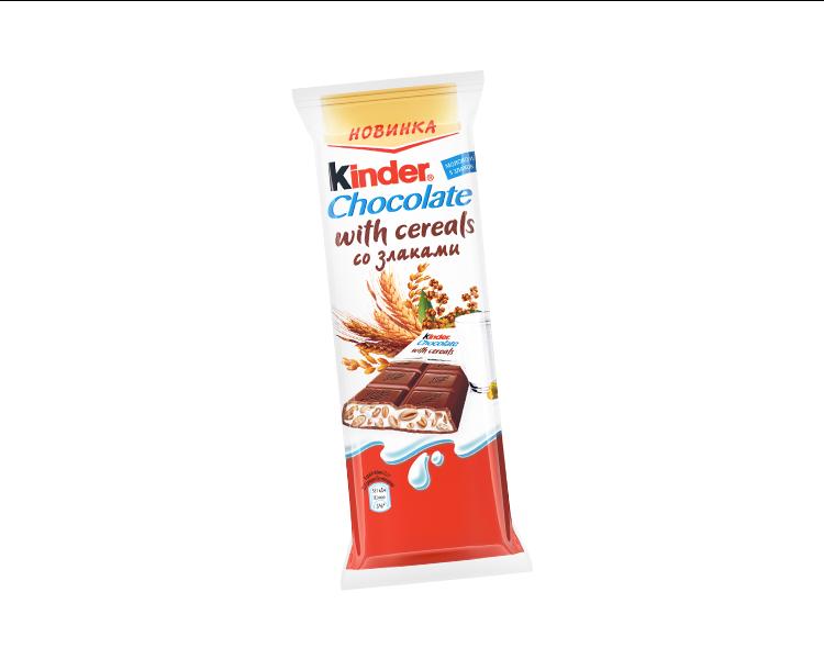 Шоколад  Киндер  со злаками 24гр .