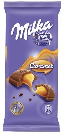 Молочный шоколад  Милка  с карамельной начинкой 90гр.